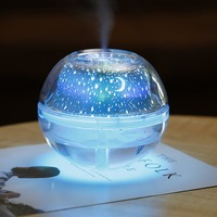 USB Air Humidifier Essential Oil Diffuser LED Projector Light Crystal Night Lamp Mini Portable Home Humidifier|Humidifiers|Home Appliances -