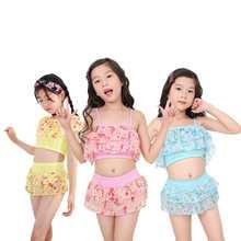 Летняя купальная одежда для маленьких девочек топы на бретельках