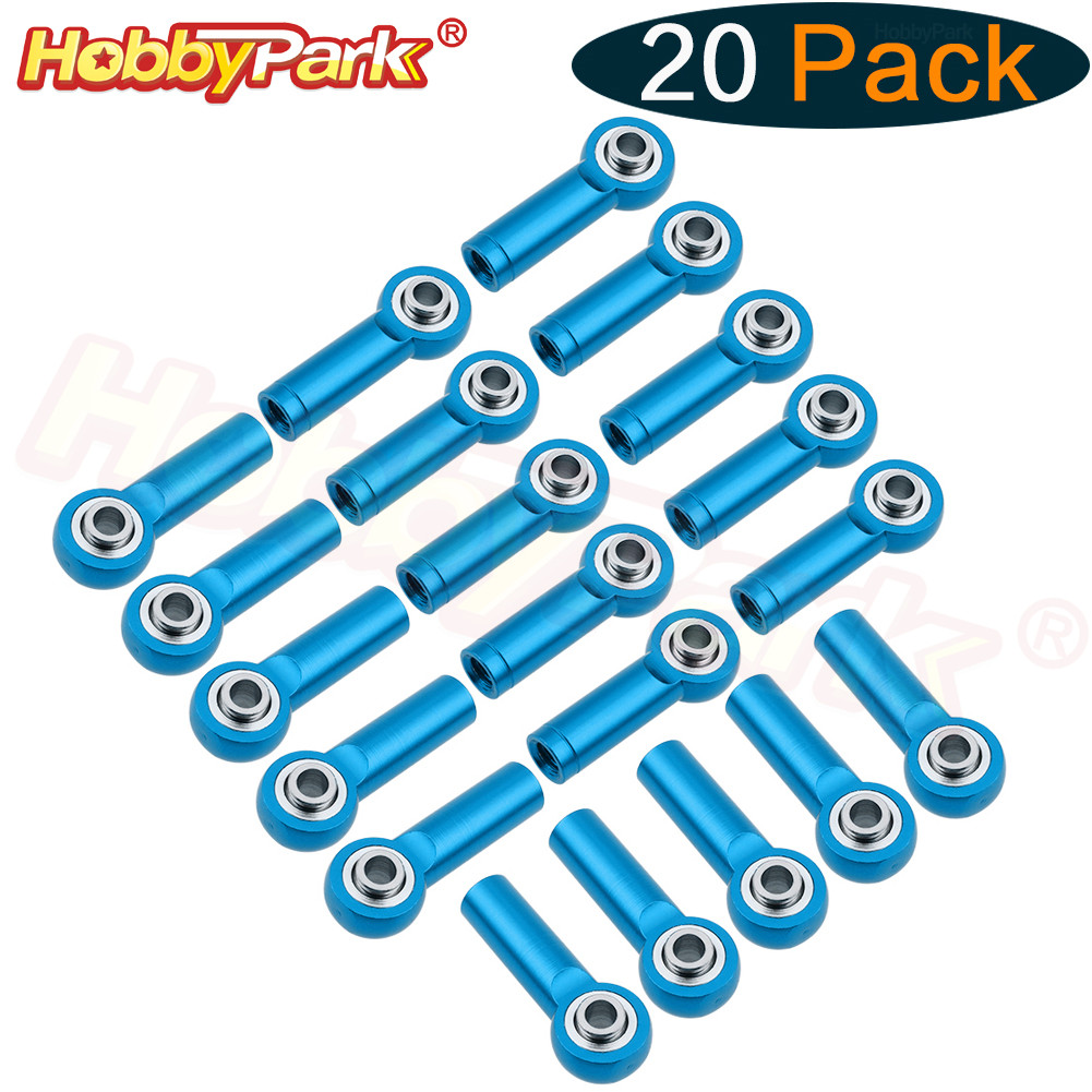 20pcs Universal M3 Aluminum Metal Rod Ends Ball Joint CW & CCW For Traxxas Axial Redcat Racing RC Car Airplane