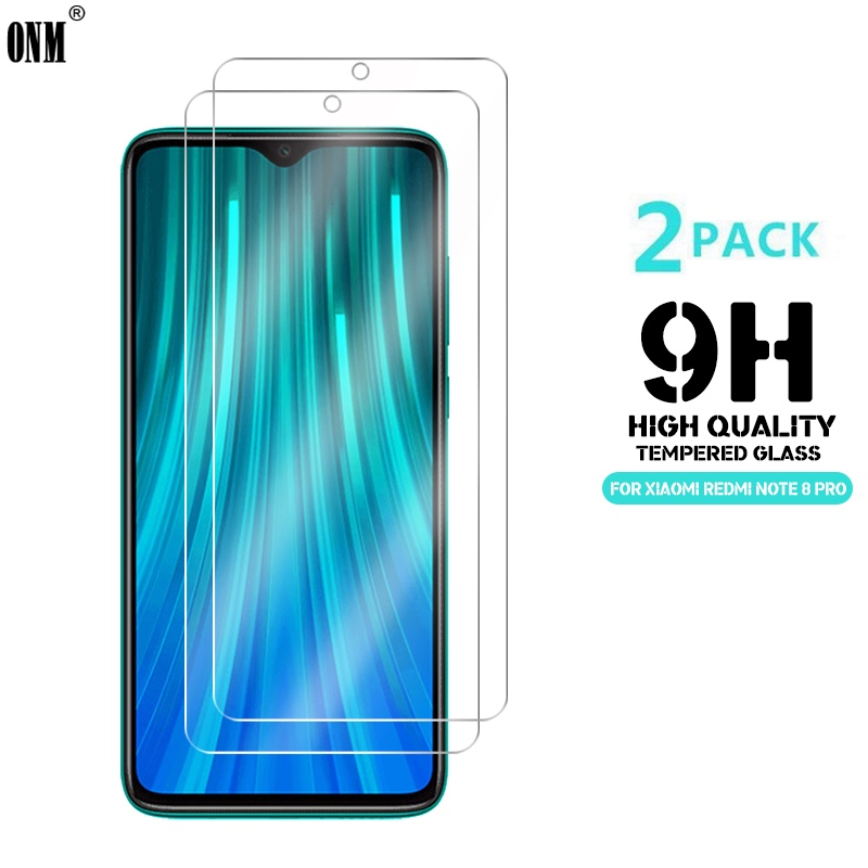 2 Pcs Tempered Glass For Xiaomi Redmi Note 8 / Note 8 Pro Screen Protector 9H Tempered Glass For Redmi Note 8 Protective Film-in Phone Screen Protectors from Cellphones & Telecommunications