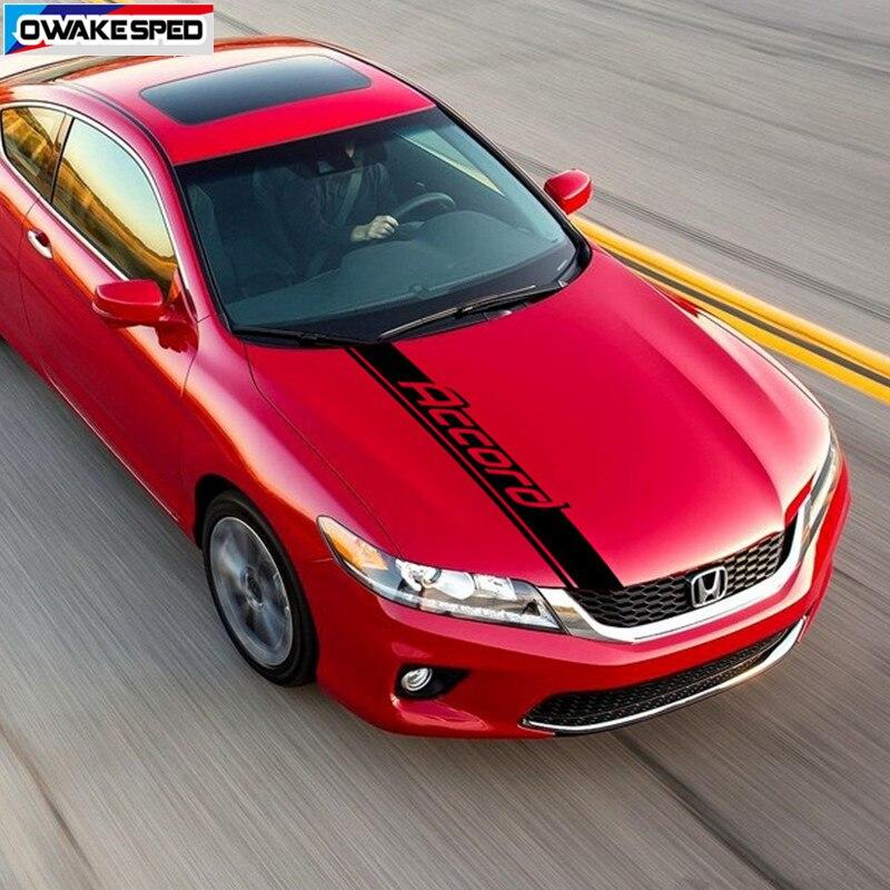 Autocollant de capot de capot de voiture de rayures de Sport pour Honda-Accord Coupe PHEV Type S