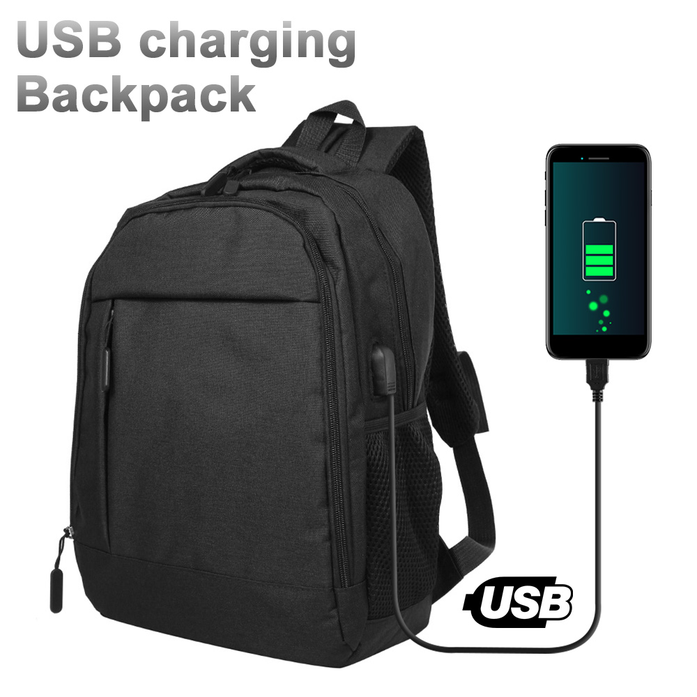 USB Charger Laptop Backpack Oxford Resistant Sports Bag School Anti-Theft Rucksack Clutch Travel Bags Organizer for Women Mens