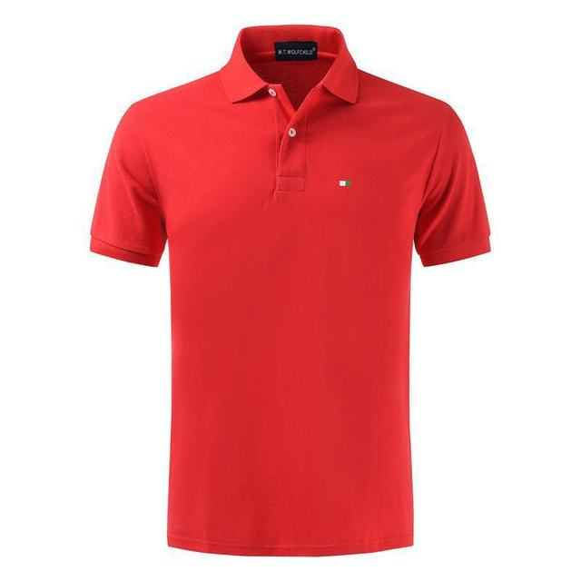Top Quality 2020 New Solid Color Mens Polos Shirts 100% Cotton Short Sleeve Casual Polos Hommes Fashion Summer Lapel Male tops 5