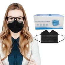 Masques faciaux jetables Anti-buée, 50 pièces, à 3 plis, Anti-poussière, confortables
