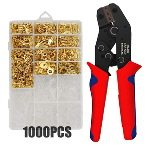 2.8/4.8/6.3mm Insulated Female Male Spade Crimp Terminals Sleeve Wire Wrap Connector And Insulated Sleeves Kit