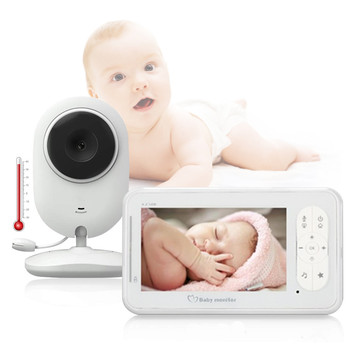 4.3 inch Video Baby Monitor with Camera Two-way Audio Nanny Baby Security Camera Babyphone Night Vision Temperature Detection цена 2017