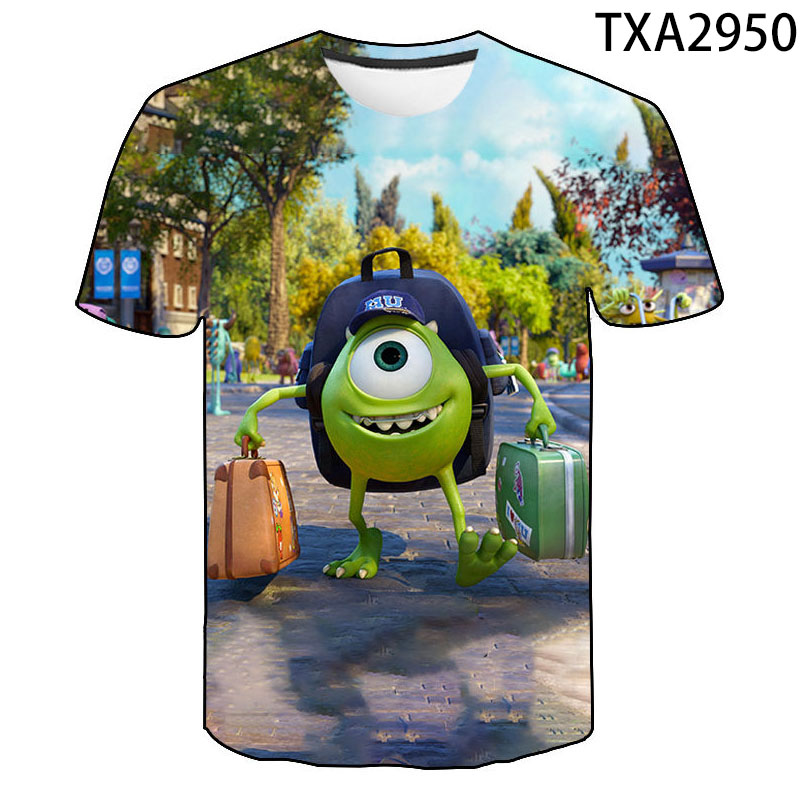 Cartoon Anime  Monsters Inc 3D T Shirt Men Women Children S Graphic  Funny T-shirt Novelty Fashion Trend Tops