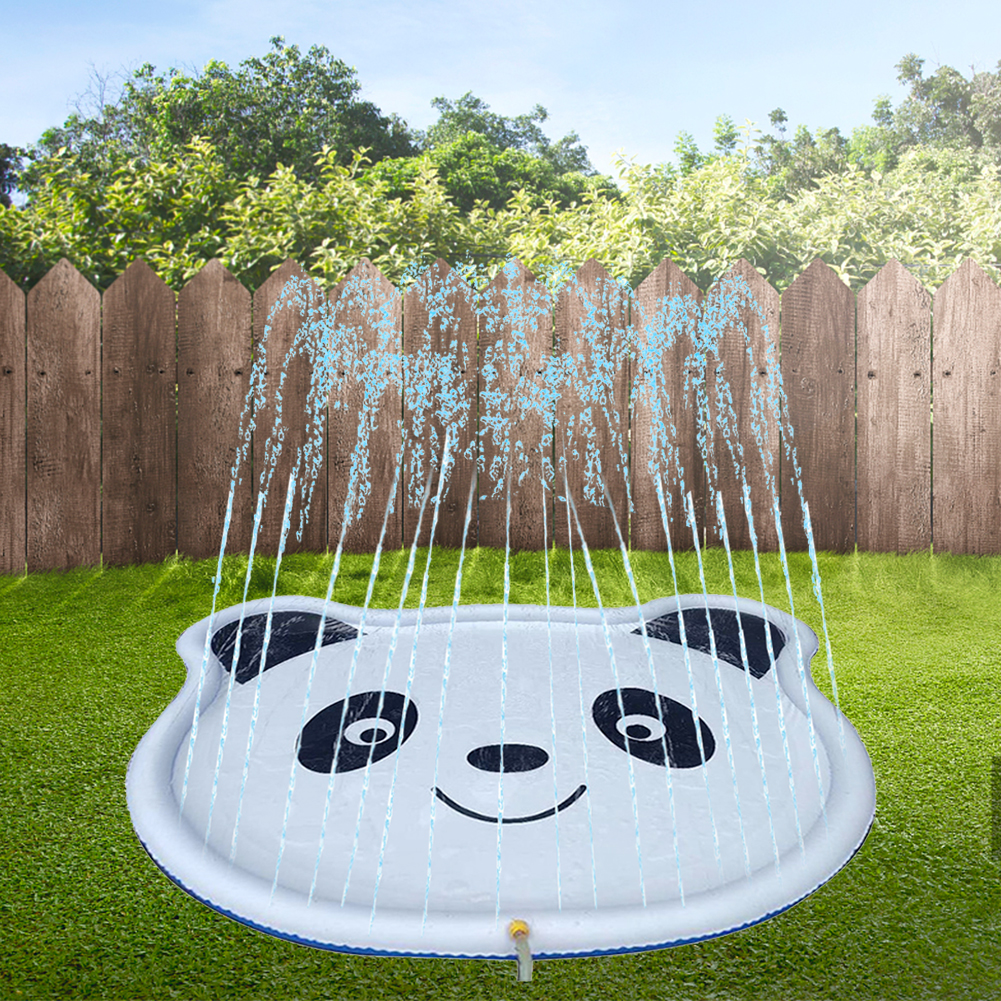 Games Beach Lawn Sprinkler Pads Inflatable Water Spray Mat Outdoor Lawn Panda Printed Play Sprinkler Cushion