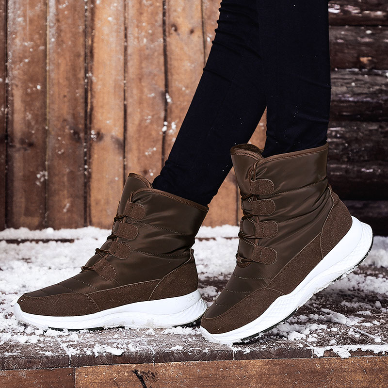 Jzzddown Winter Snow Boots Shoes Woman Waterproof Fur Boots Ladies Snow Boots For Women Ankle Boots Warm Plush Shoes Footwear 37