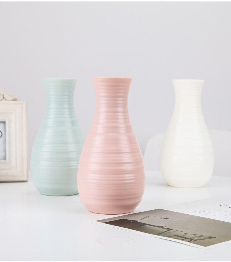 Оригами пластиковая ваза молочно-белая имитация керамического цветочного горшка Цветочная корзина Цветочная ваза для украшения интерьера скандинавские украшения
