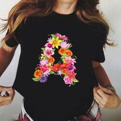 Camiseta gráfico de manga curta tshirt gráfico floral flor estética feminino topos camisetas feminino ulzzang verão t camisa dropshipping