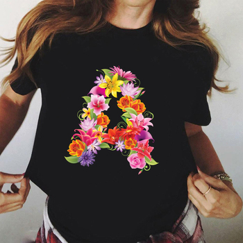 Graphic T-Shirt Short-Sleeve Graphic Tshirt Floral Flower Aesthetics Female Tops Tees Women Ulzzang Summer T Shirt Dropshipping short sleeve floral graphic tee