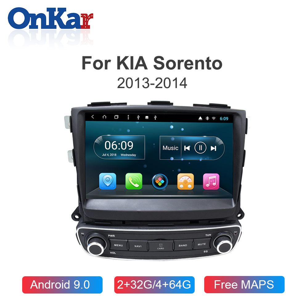 ONKAR Car Multimedia Player For KIA Sorento 2013 2014 Android 9.0 2GB 32GB GPS Navigation Auto Car Radio 1din Bluetooth 5.0 image
