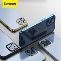 Baseus-Funda ultrafina para iPhone 12, carcasa trasera transparente de TPU suave para iPhone 12 Pro Max 12