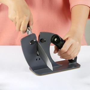 Image 5 - Точилка для кухонных ножей RISAMSHA RM022, профессиональная обновленная кронштейн с автоматической регулировкой, лезвие, простая в использовании