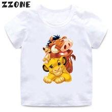2020 verão bebê meninos t camisa bonito simba dos desenhos animados leão rei impressão crianças t-shirts engraçado animal crianças meninas topos roupas, hkp5315