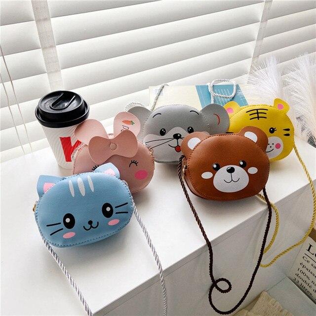 Girls Purse Coin Purse Mini Bag Cute Wallet Children's Small Purse Cartoon Animal Messenger Bag Fashion Kids Mini Shoulder Bag 1