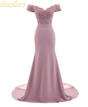цена на New Pink V-Neck Mermaid Lace Evening Dress Applique Beaded Long Wedding Party Dresses Backless Cap Sleeve Formal Party Gowns