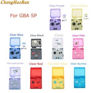 Image 1 - 1 مجموعة لون واضح شفاف ل GBA SP نينتندو d Gameboy presancesp كامل الإسكان غطاء حماية استبدال الإسكان الكامل أزرار تشبه الأصداف