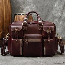 MAHEU Vintage Fashion Leather Briefcase 15 Inch Laptop Business Bag Hand Bag Bagpack