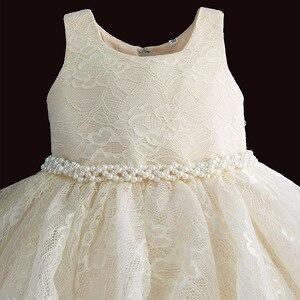 Image 3 - 아기 소녀 옷 1 생일 소녀 투투 드레스 진주 벨트 세례 저녁 파티 드레스 공주님 아이 드레스 6 12 18 36 m