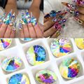 Великолепные кристаллы AB Стразы 3D блестящие стеклянные алмазные драгоценные камни для украшения ногтей разных размеров
