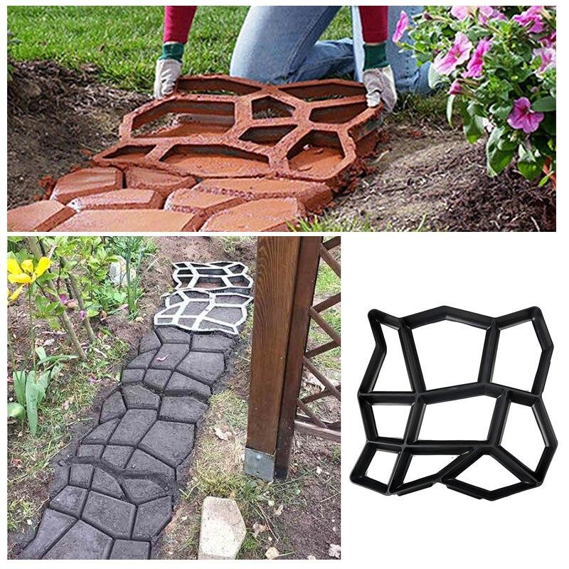 Plastic Floor Path Maker Mould Concrete Mold Reusable DIY Paving Durable For Garden Lawn Home