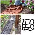 Пластиковая форма для создания дорожки для пола, форма для бетона, многоразовая прочная для самостоятельного изготовления мощения для сада...