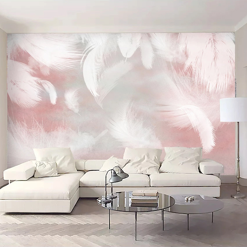 Custom 3D Photo Wallpaper Modern Abstract Feather Art Wall Painting Waterproof Canvas Living Room Bedroom Wall Papers Home Decor 3