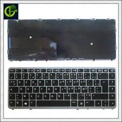 Оригинальная французская Azerty-клавиатура для HP EliteBook 840 G1 840 G2 850 G1 850 G2 855 G2 ZBook 14 FR с серебристой рамкой
