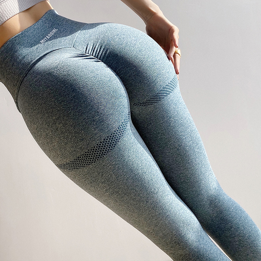Scrunch Butt Seamless Leggings For Women Gym Ribbed Workout Compression Tights Sport Leggings Quick Dry Stretchy Yoga Pants New