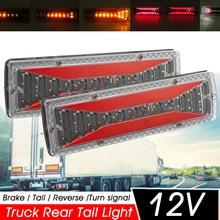 2 sztuk 12V dynamiczny LED samochodów ciężarówka tylne światło pozycyjne kierunkowskaz tylny hamulec ight rewers lampka sygnalizacyjna dla przyczep ciężarówka autobus wczasowiczów