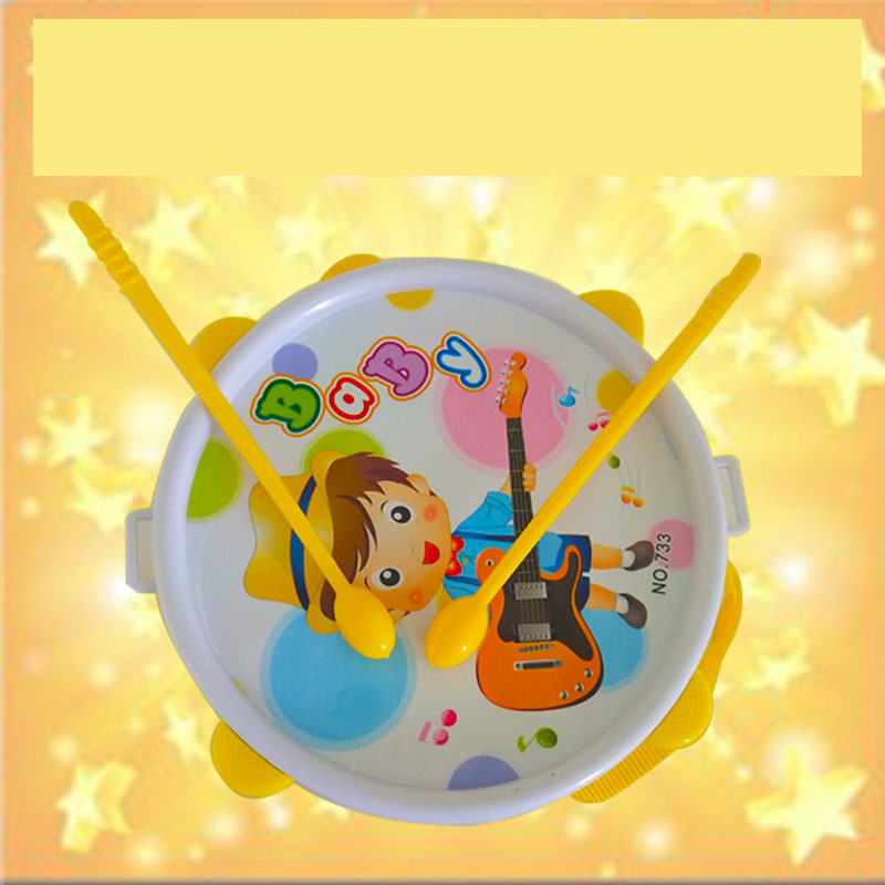 Cartoon Double-Sided Drum Hand Drums Children Music Educational Toy Stall Hot Selling