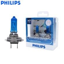 Philips-Bombilla halógena para coche, lámpara incandescente de 12V y 55W con 5000K de luz blanca para automóviles, serie 12972DVS2, modelo H7