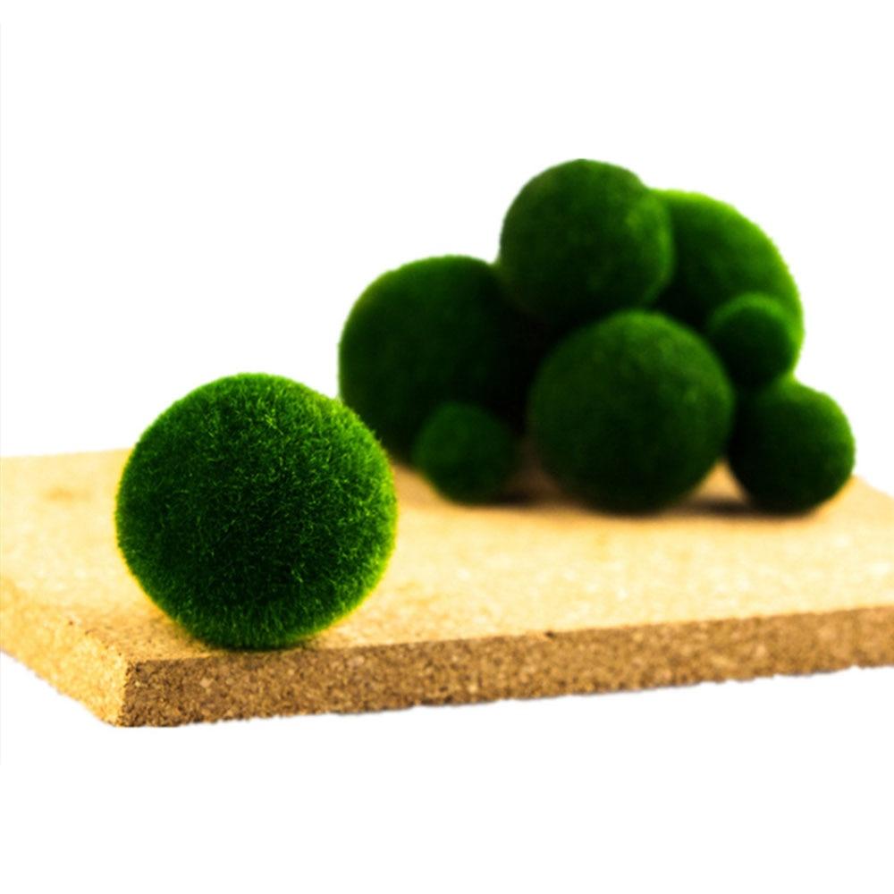 Green Mini Aquarium Plant Fish Tank Shrimp Nano Seaweed Ball For Marimo Moss Balls Fish Tank Ornament Decoration