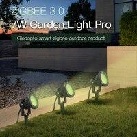 GLEDOPTO Zigbee 3.0 Smart Outdoor LED Spike Lights 7W Pro AC100-240V Garden Lamp For Grassplot Exterior Roof Lawn Wedding Party