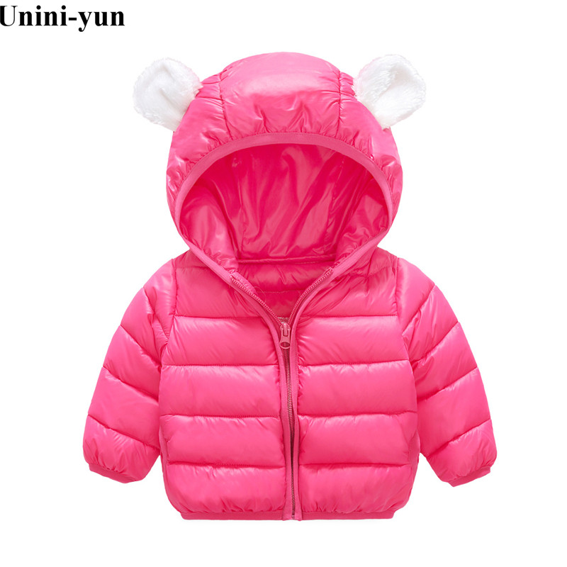 2019 Fashion Baby Girls Boys Clothes Children Winter Cotton Warm Soft Hooded Full Sleeve Outfits Clothing Boys Winter Jacket