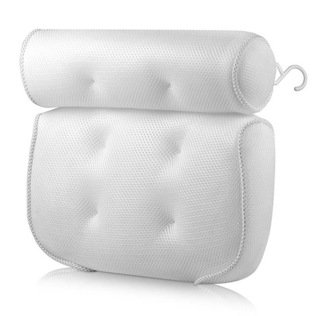 SPA Bath Pillow with Suction Cups Neck and Back Support Headrest Pillow Thickened for Home Hot Tub Bathroom Cushion Accersories