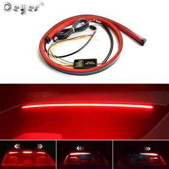 Ceyes 100cm Car Accessories High Brake Lights Styling LED Flexible Strip Cars Safety Warning Signal Light Auto Stop Signal Lamp