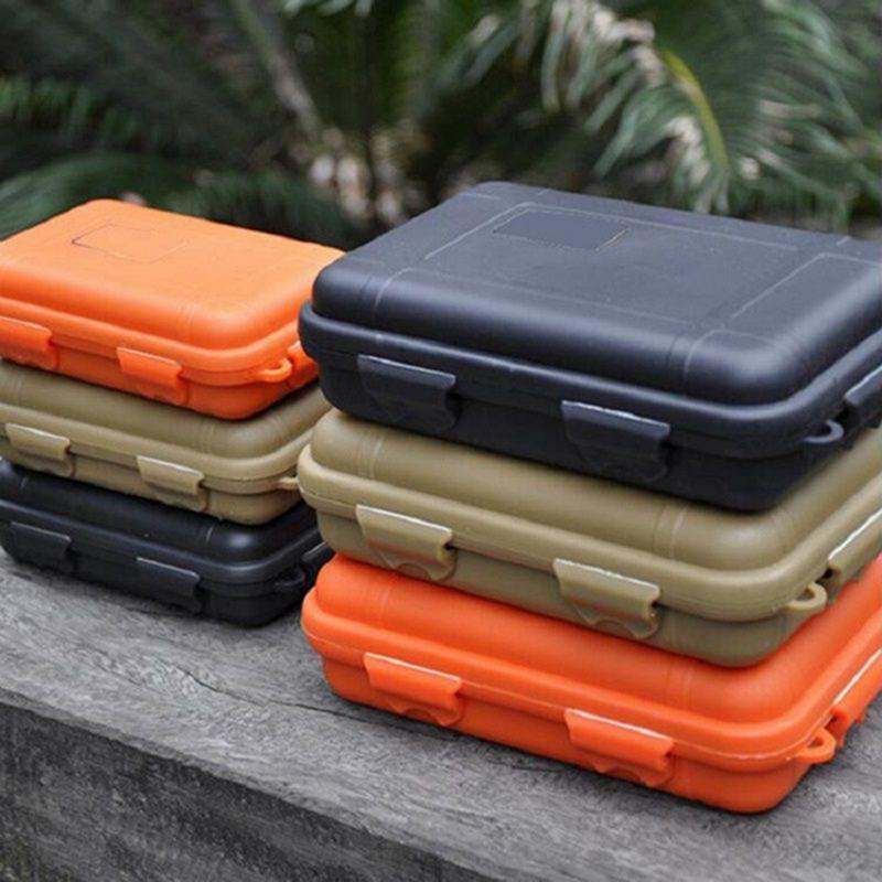 Outdoor Carry Storage Box Case Travel Kit Shockproof Waterproof Sealed Container Case Airtight Survival Storage Case