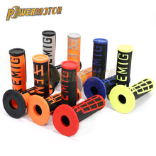 Motorcycle Hand Grips Handle MX Grip EMIG Grip FOR To KLX CRF Motorcycle Dirt Pit Bike Rubber Handlebar Twist Grip For GEL GP vodool 2pcs rubber motorcycle grip 22mm motorcycle vintage handlebar grip for all motorcycle high quality cars styling