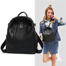 Fashion Backpacks Women Shoulder Bag Korean Style Cow Leather Backpack College School Bags Travel Backpack