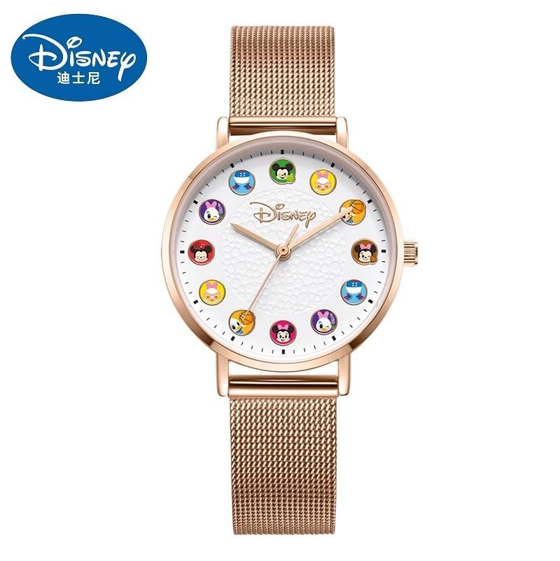Relógio de Pulso Escala à Prova Disney Original Nova Chegada Feminino Masculino Casual Quartzo Micky Desenhos Animados Dwaterproof Água Estudante Meninas Presente Relógio 2020