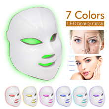 7 Colors LED Facial Mask Photon Therapy Facial Massager Women Skin Care Tools Wrinkle Removal Anti Aging Cleaning Beauty Machine