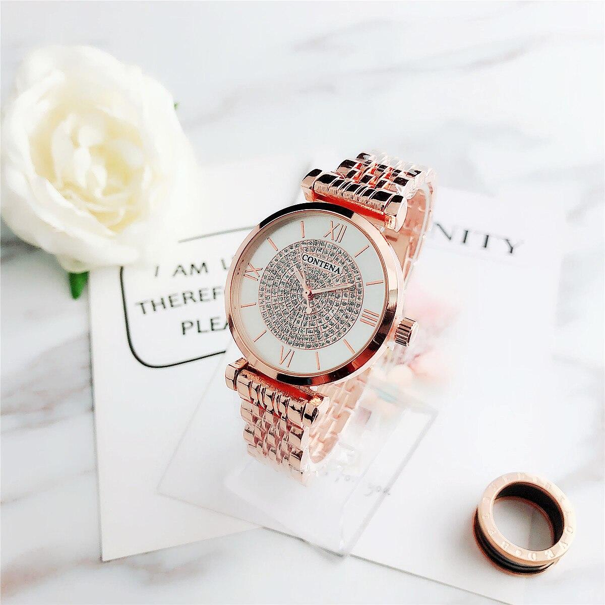 ¡Novedad! ¡Nuevo producto! Reloj de pulsera de lujo para Mujer de CONTENA Saati Montre Relojes de lujo 2020 Zapatillas planas para mujer, zapatillas blancas ligeras, zapatillas informales de verano y otoño para mujer