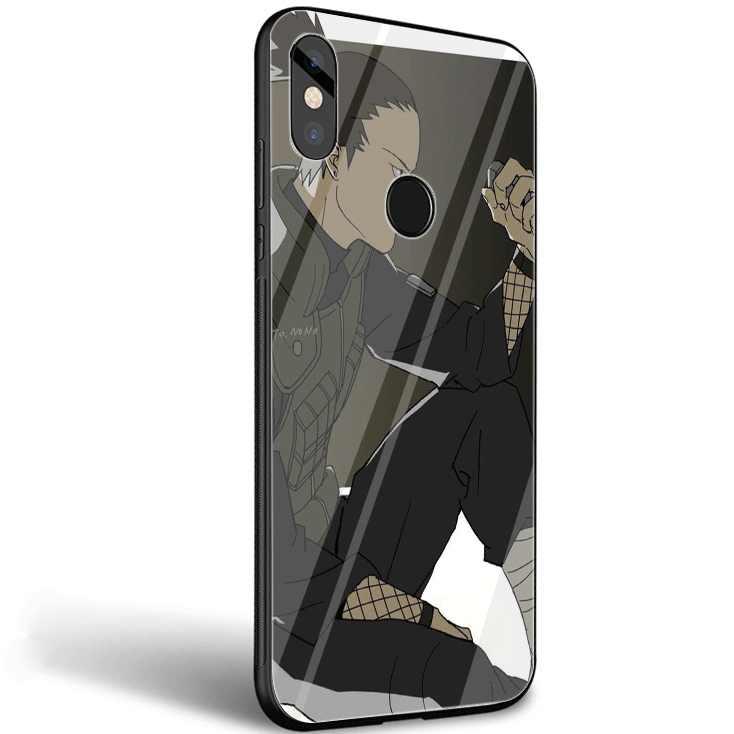 Etui na telefon komórkowy szkło do Xiao mi mi 8 9 Lite A1 A2 czerwony mi nocie 5 6 7 Pro 6A 4X 5X 6X Pocophone F1 pokrywa Shell Nara Shikamaru