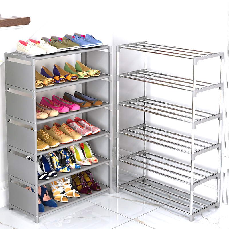 Simple Assembled Shoe Cabinet Nonwoven Fabric Dustproof Shoes Storage Home Dorm Hallway Stand Holder Shelf Furniture Shoe Rack