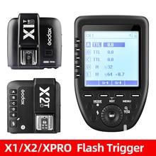 Беспроводной ресивер Godox X1T X2T X-Pro TTL 2,4G, триггер вспышки, 32 канала, для камеры Canon Sony Nikon DSLR