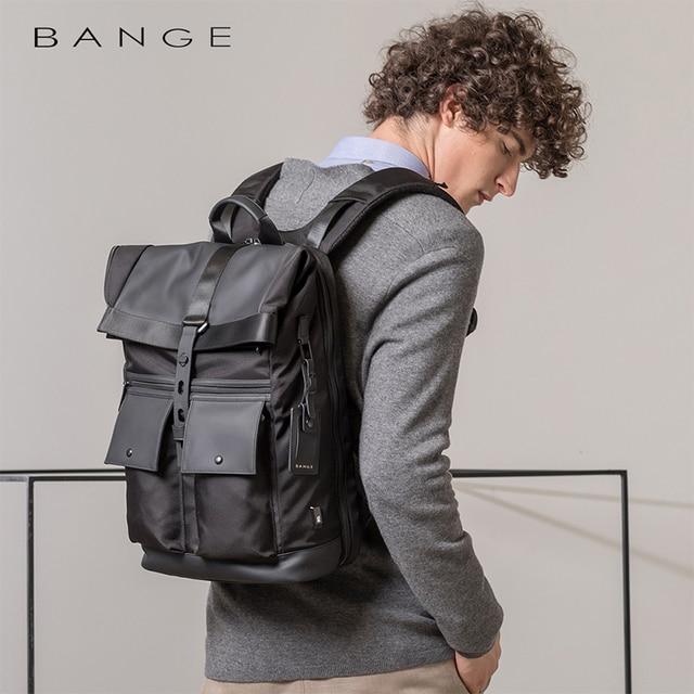 Bange Men Fashion Backpack Multifunctional Waterproof Backpack Daily Travel Bag Casual School Rucksack