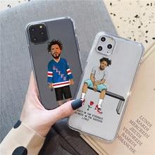 J. cole hip hop macio transparente tpu macio silicone caso de telefone para iphone 5 5S se 7 8 plus 6s x xs max 11pro 12pro max 12mini